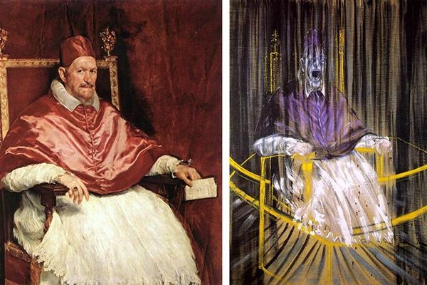 retrato. El retrato del Papa de Inocencio X