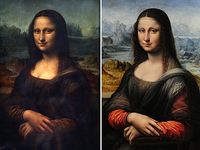Mona Lisa y copia